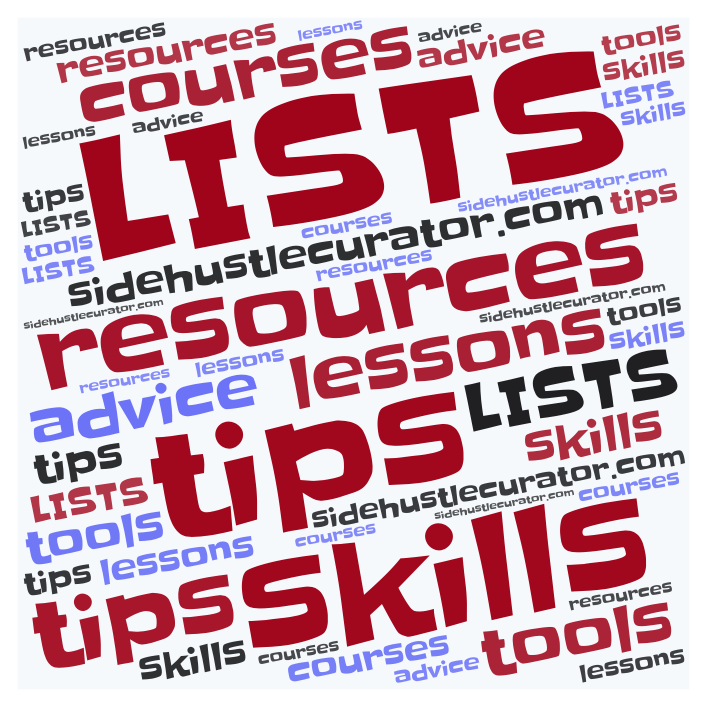 word cloud lists resources tips